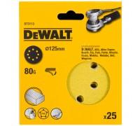 DeWalt, DT3113, Шлифкруги для эксцентриковых шлифмашин быстрозаменяемый на бумажной основе, 125 мм,