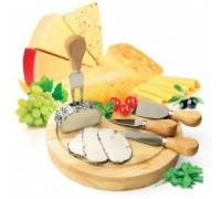 Набор для резки сыра из 4-х приборов и деревянной доски «РОКФОР» TK 0090