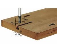 Фреза для выборки Т-образных пазов с хвостовиком 8 мм HW S8 D10,5/NL13