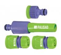 """Набор для подключения шланга 1/2"""" (распылитель, 3 адаптера к распылителю)  PALISAD 65176"""