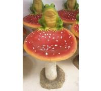 Садовая фигурка Лягушка на грибе MG2766500