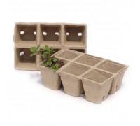 Квадратные ячейки из картона для высадки растений 4 см. 9106 Worth