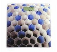 Весы напольные с 3D рисунком «СОТЫ» (BATHROOM SCALE honeycombs - CB301)