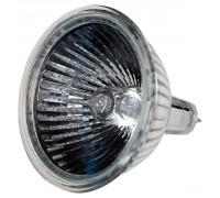 Лампа галогенная СВЕТОЗАР с защитным стеклом, алюм. отражатель, цоколь GU5.3, диаметр 51мм, 35Вт, 12