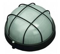 Светильник уличный СВЕТОЗАР влагозащищенный с решеткой, круг, цвет черный, 100Вт