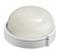 Светильник уличный СВЕТОЗАР влагозащищенный, круг, цвет белый, 60Вт