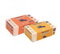 Перчатки хозяйственные универсальные нитриловые L, синие, 50 пар в коробке 14854