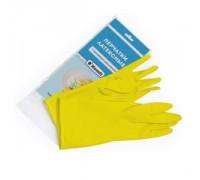 Перчатки латексные с хлопковым напылением желтые L Komfi/120 пар 3047