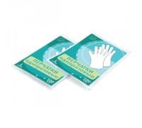 Перчатки одноразовые размер М полиэтиленовые 100 штук в упаковке 3614