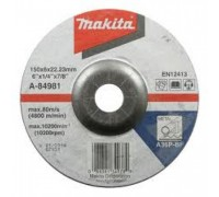 Шлифовальный диск изг. 150х6.0х22.23 по металлу A-84981 Makita