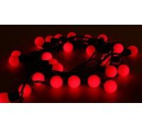 Гирлянда светодиодная для улицы LED-Ball, 5 м, 50 лампочек, красная