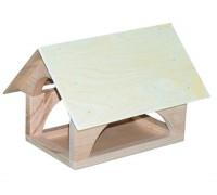 Кормушка для птиц Теремок деревянная