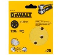 DeWalt, DT3115, Шлифкруги для эксцентриковых шлифмашин быстрозаменяемый на бумажной основе, 125 мм,