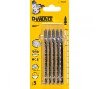 DeWalt, DT2077, Полотно для электролобзиков по дереву HCS. Грубый быстрый криволинейный пропил. По д