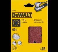 DeWalt, DT3012, Шлифлисты для виброшлифмашин на бумажной основе, перфорированные, дерево/ краска, 11