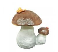 Гриб белый двойной с бабочкой, арт. UPG096, H-23 см