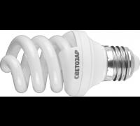 """Энергосберегающая лампа СВЕТОЗАР """"ЭКОНОМ"""" спираль,цоколь E27(стандарт),Т3,теплый белый свет(2700 К), (44352-12_z01)"""