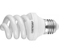 """Энергосберегающая лампа СВЕТОЗАР """"ЭКОНОМ"""" спираль,цоколь E27(стандарт),Т3,яркий белый свет(4000 К), (44354-09_z01)"""