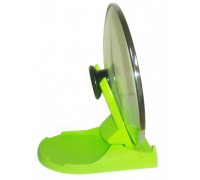 Подставка для крышки и ложки зеленая «ПОМОГАЙКА» (Spoon and cover stand)