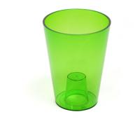 Кашпо Лилия 125х125мм, цвет зеленый  Польша