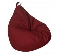 Груша XL полностью ткань красная мешковина