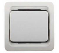 """Выключатель СВЕТОЗАР """"ГАММА"""" проходной одноклавишный, без подсветки, цвет белый, 10А/~250В"""