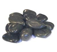 Галька черная плоская (средняя фракция 10-20мм) 20 кг