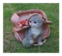 Горшок Кошка в розовой сумке HP101063(5)  GS