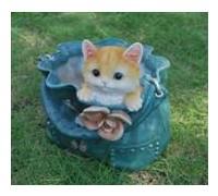 Горшок Кошка в синей сумке HP101065(3)  GS