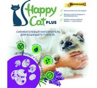 """Силикагелевый наполнитель """"Happy Cat plus"""" лаванда 3.8 л (1.7кг)"""