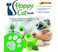 """Силикагелевый наполнитель """"Happy Cat plus"""" яблоко 3.8 л (1.7кг)"""