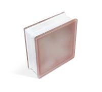 Стеклоблок Misty Cloudy Pink 190х190х80мм, JH043  D G