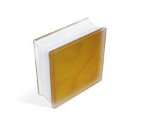 """Стеклоблок """"Misty in-colored"""", желтый матовый, 190х190х80мм, JH066 (24104216)"""