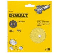DeWalt, DT3121, Шлифкруги для эксцентриковых шлифмашин быстрозаменяемый на бумажной основе, 150 мм,