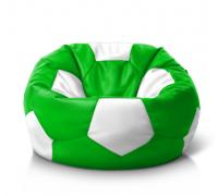 Мяч зелено-белый