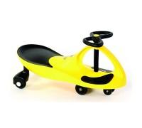 """Машинка детская, """"БИБИКАР"""" с полиуретановыми колесами, желтая DE 0041"""