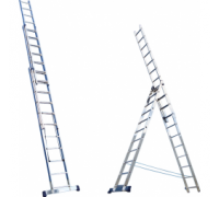 Алюминиевая лестница 3х6, Н=3,4/4,4м (5306) 30216030