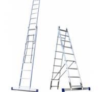 Алюминиевая лестница 2х10, Н=4,8/5,9м (5210) 30216016