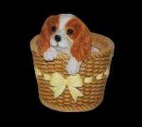 Горшок Собака в корзинке HP111099(3)  GS