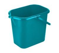 Ведро пластмассовое прямоугольное 16л, голубоееТМ Elfe light  92953