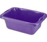 Таз пластмассовый прямоугольный 25л, фиолетовый ТМ Elfe  92991