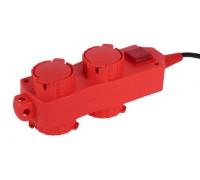 Удлинитель СВЕТОЗАР электрический с заземлением, выключатель, евро, 4 (2х2) гнезда, с крышками, 3м