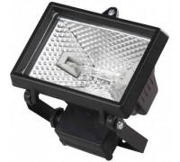 Прожектор галогеновый СВЕТОЗАР с дугой крепления под установку, цвет черный, 500Вт