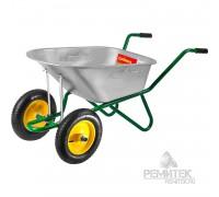 Тачка GRINDA садово-строительная двухколесная, 90 л., 180 кг.