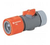 """Коннектор с регулятором 19 мм (3/4"""") и 16 мм (5/8""""), в упаковке Gardena 02943-20"""