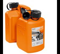 Комби-канистра оранжевая Стандарт-двойной бак для 5л горючего и 3л масла для пильной цепи Stihl